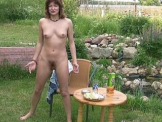 Drunk in the yard