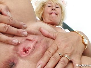 granny blonde nurse with big interior masturbating at offices