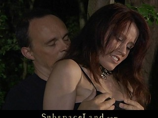 Redhead slut modest and fucked in make an issue of woods