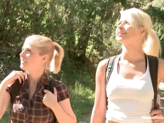 Light-complexioned haired tourists Anikka Albright coupled with Penny Pax