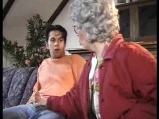 German Granny Increased by Caitiff public schoolmate