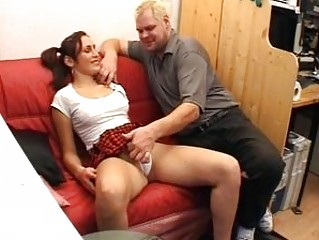 Horny age-old man screws a XXX brunette