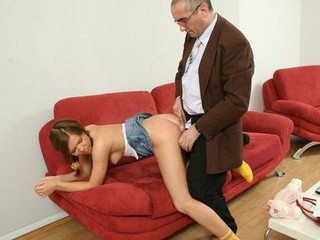 Cute sexy crumpet gets hardcore with old professor.