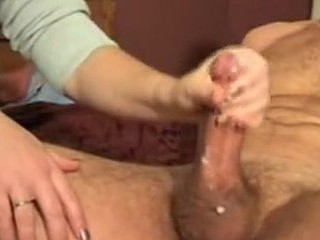Private porn with a beautiful wife doing great handjob