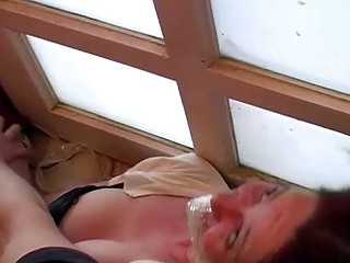 She comes over for a drink and gets tied up and abused and fucked hard