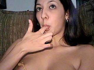 Braless larissa make mincemeat of peanut margarine not present her fingers