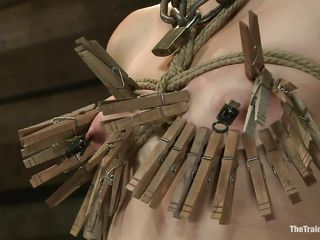 into the bargain much clothespins be required of her small tits...
