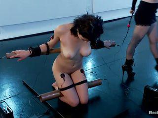 bound raven rockette is being punished overwrought blonde milf