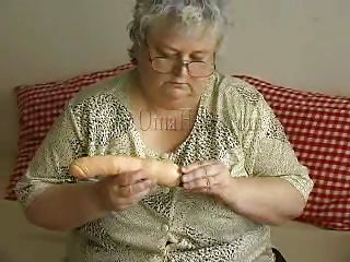 gray haired granny and her conceitedly dildo