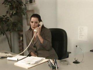 MILF Magdalene St Michaels is fucked across her desk