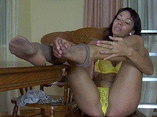 Margo resembling will not hear of nylon feet