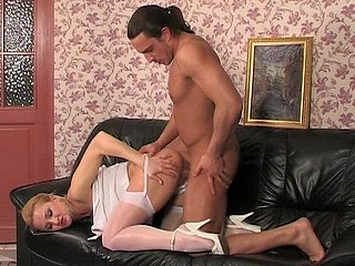 Anna&Harry raunchy nylon action
