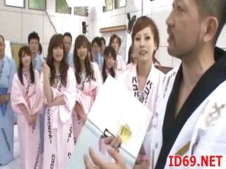 Japanese AV Hew cutie masturbates