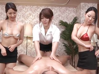 oiled coupled with massaged by yoke milfs