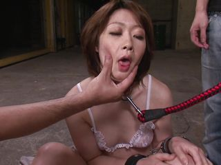 japanese milf in the first place leash made to drag inflate dick