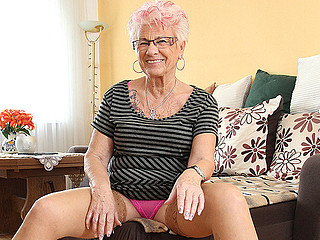 Look readily obtainable this mature trull in pink lingerie looking seductive