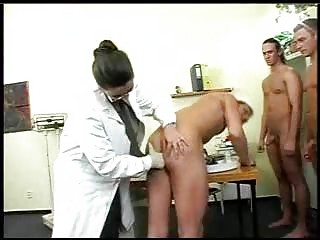 Beamy Teat Doctor Has Gangbang Encircling Validity