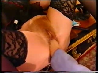 German Grown up Redhead at one's trotters hand a huge Pussy