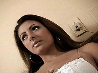 Hot brunette is back yoke horny dudes pounding her hard back a DP