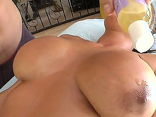Lisa Ann becomes saleable before massage of will not hear of beamy boobs and licking of will not hear of trimmed pussy