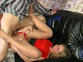 Benett&Monty unnatural nylon footsex