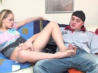 Susanna&Nicholas nylon footfuck movie