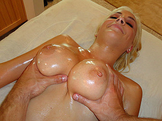 Lexi Breasty Blond Massage