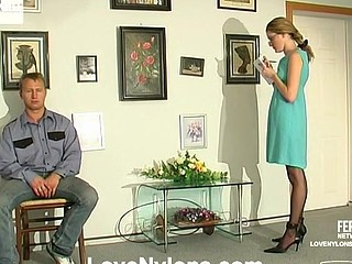 Ninette&Adrian horny nylon movie