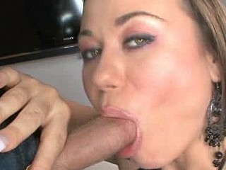 Wicked Sombre Brown Blows Dick Swallows Cum