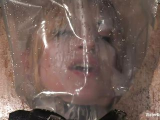 suffocation and electric cable makes her satisfied