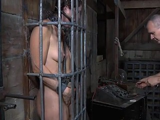 Brunette related gagged back pen