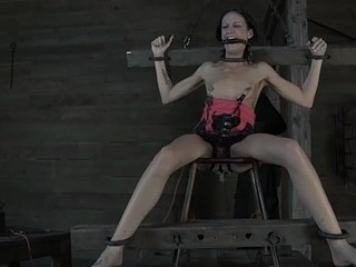 Masked handsomeness gets her bra buddies bounded constant with toy drilling