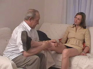 Grey tramp fucks his grandson&amp,#039,s go steady with