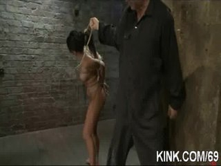 X babe in arms bound, suspended, punished plus fucked