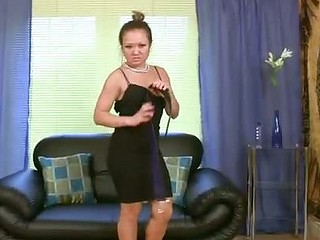 Torrid Asian milf punishes will not hear of pussy