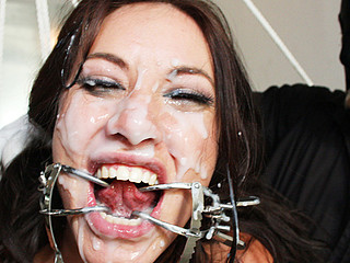 Disgraced Juliette takes tons of cum!
