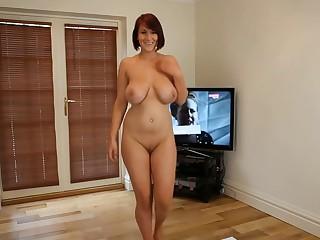 Derogatory Dancing: Nude Busty Brit Strip