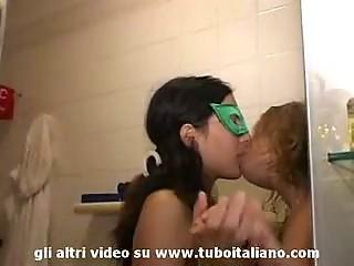 Italian Silver-tongued girl amateur Lesbo
