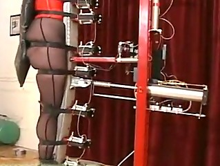 Slave testing a catch new torture machine!