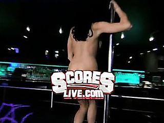 `Danielle Staub, formerly of ``The Real Housewives of Fresh Jersey,`` goes wild on a stripper pole elbow ScoresLive.com.`