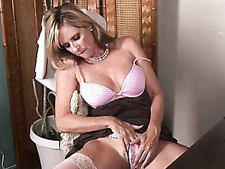 Sophisticated office woman strips and masturbates more than break