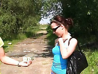 Raunchy outdoor sex for specie