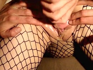 Guy frequently creampies his fishnet girlfriend