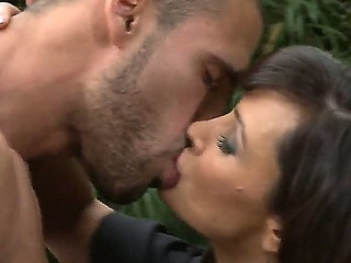 Handsome guy with an amazing host is fucking marvelous unshaded Lisa Ann on camera