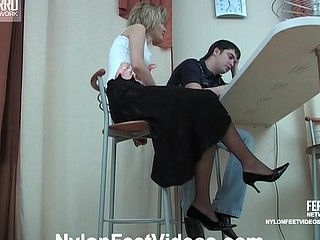 Christie&Adam awesome nylon feet action