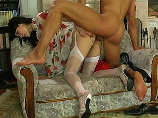 Emmie&Maurice nasty nylon flick